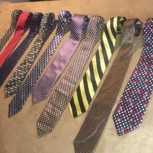 Lot of 10 vintage ties